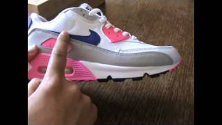 nike air max 90 laser pink concord   review