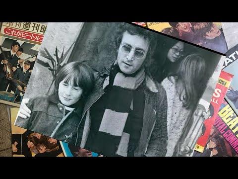 ♫ John Lennon and Julian outside United Artists Recording studio, 1974
