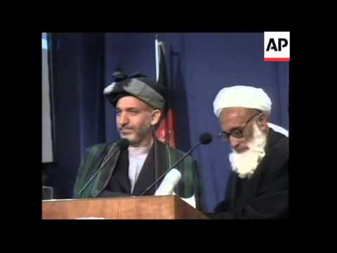 Karzai appoints cabinet and is inuagurated by Loya Jirga