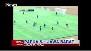 Tim Sepak Bola Papua Gilas Jawa Barat dengan Skor 5-1 #iNewsMalam 28/09