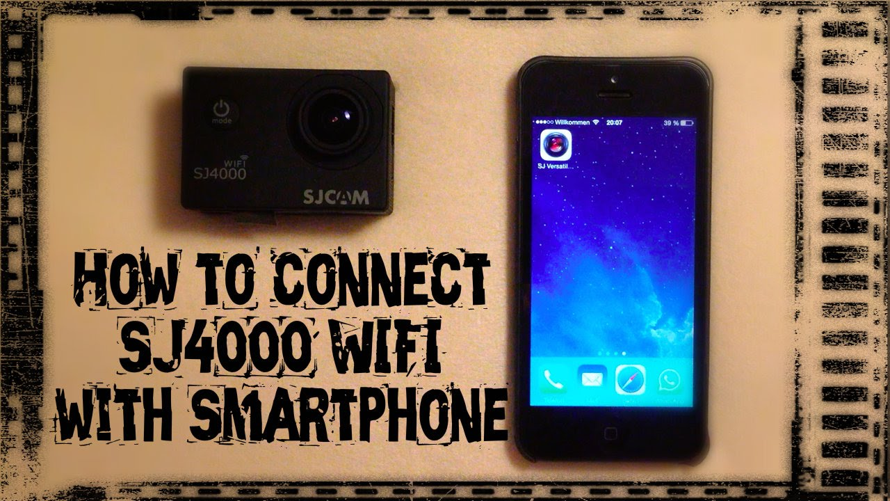 how to connect the sjcam sj4000 wifi with smartphone. Black Bedroom Furniture Sets. Home Design Ideas