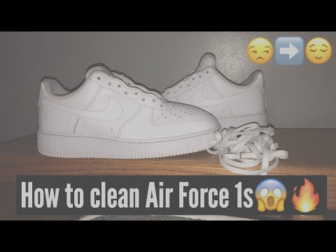 HOW TO CLEAN AIR FORCE 1s‼️
