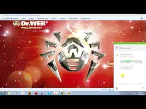Dr.Web Security Space-11 Установка ключевого файла и переход на ручное обновление