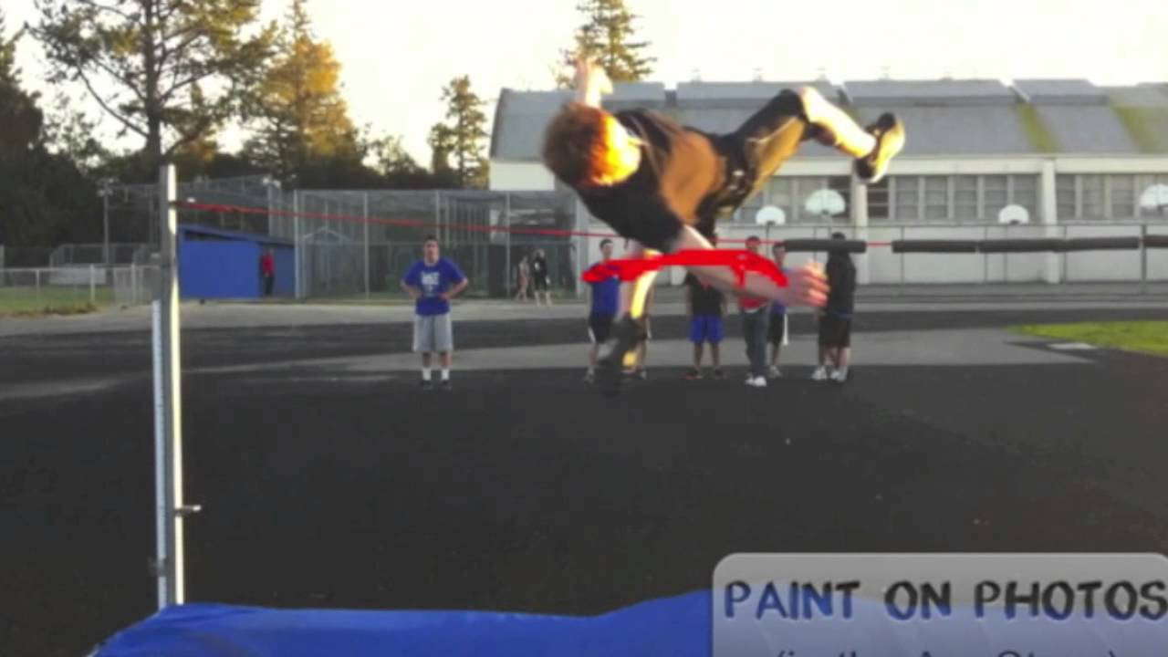 How to high jump for beginners - YouTube