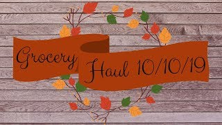 Grocery Haul October 10 2019 I Food Lion Grocery Haul