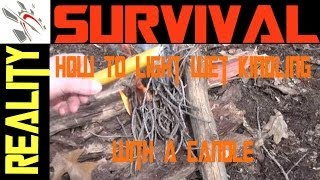Wilderness Survival: How To Light Wet Kindling With A Candle Part 2 of 2