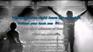 When you look me in the eyes Karaoke instrumental