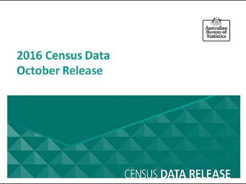 October release Census Data Seminar - Canberra