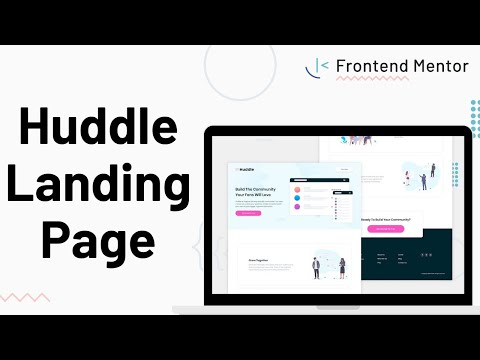 Huddle Landing Page - Design To HTML/CSS