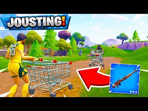 *NEW* SNIPER JOUSTING MINI GAMES ON SHOPPING CARTS! (Fortnite Custom Games Gameplay)