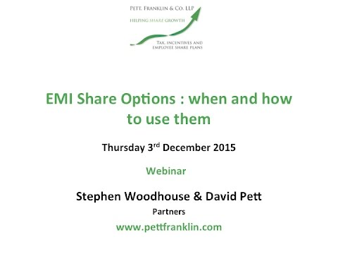 Pett Franklin - EMI Share Options Webinar - 3 December 2015