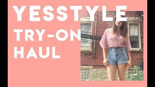 YESSTYLE TRY ON HAUL! My first haul video ~