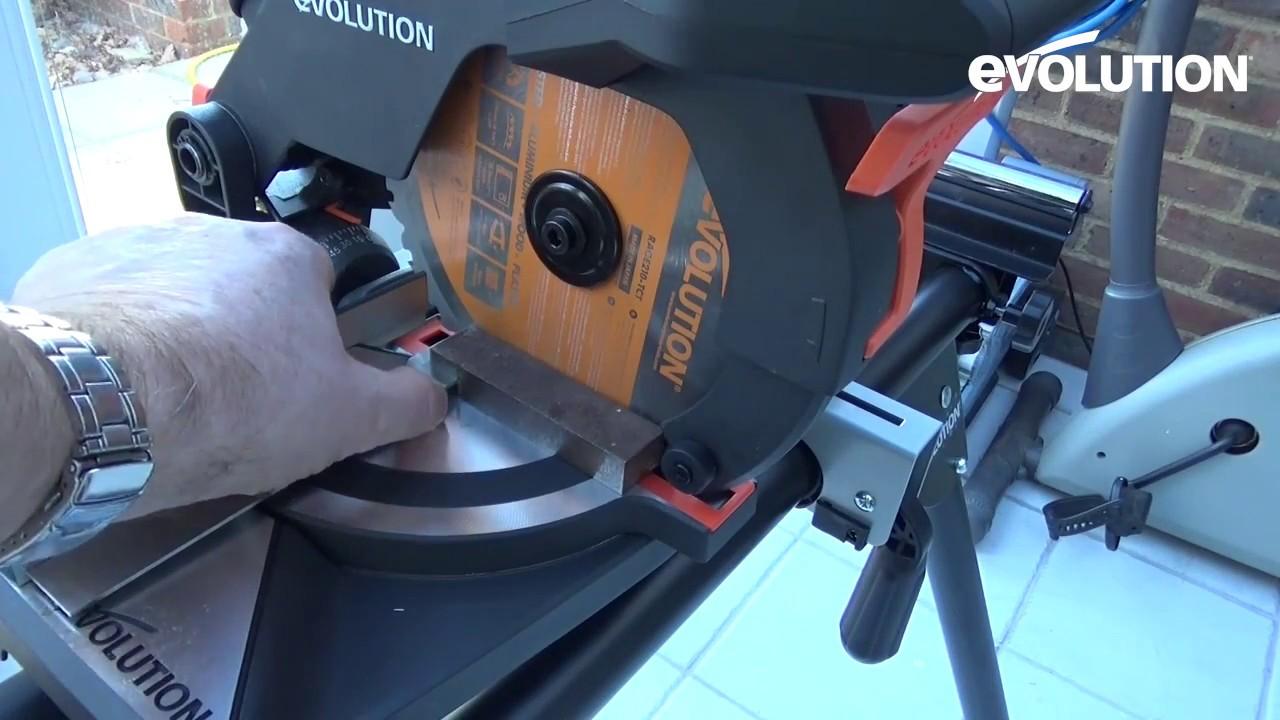 EVOLUTION R210CMS 210MM SINGLE-BEVEL COMPOUND MITRE SAW 110V