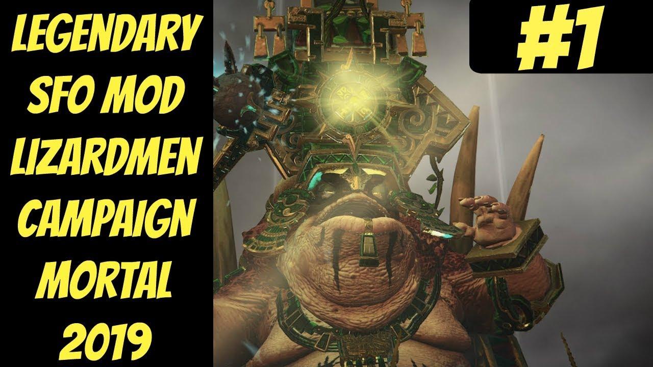 Legendary Lizardmen SFO Mod In-Depth #1 (Mazdamundi) -- Mortal Empires --  Total War: Warhammer 2