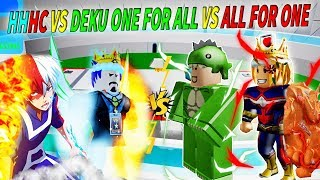 Roblox - ĐẠI HỘI ANH HÙNG HALF COLD HALF HOT VS DEKU ONE FOR ALL VÀ ALL FOR ONE - Boku No Roblox