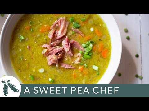 Slow Cooker Split Pea Soup | A Sweet Pea Chef