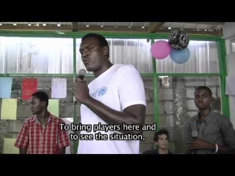 Basketball stars visit UNICEF-supported malnutrition treatment centre in Haiti