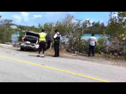 Police Car Accident Bermuda May 28 2011