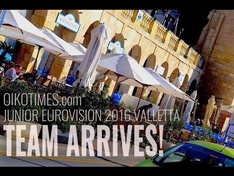 oikotimes.com: team lands in Malta for Junior Eurovision 2016 venture