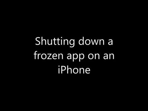 iphone shut down shutting a hung app on an iphone 4 goldenyearsgeek 12310