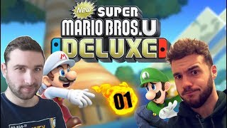 MARIO vs LUIGI sur NINTENDO SWITCH 🤣 | LA COOP MÉCHANTE 01 😈😂 | NEW SUPER MARIO BROS U DELUXE !