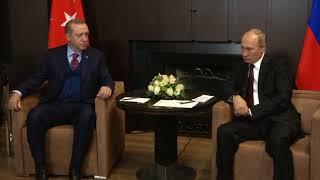 Putin ve Erdoğan Soçi'de buluştu