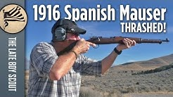 THRASHED! 1916 Spanish Mauser in .308 - But How Does it Shoot?