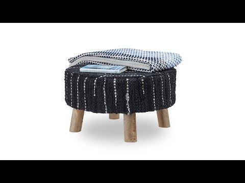 hocker-schwarz-mit-lederbezug-handgewebt