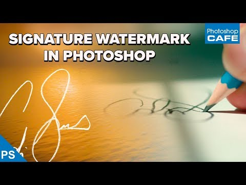 How to turn a SIGNATURE into a WATERMARK in PHOTOSHOP   Start to finish tutorial