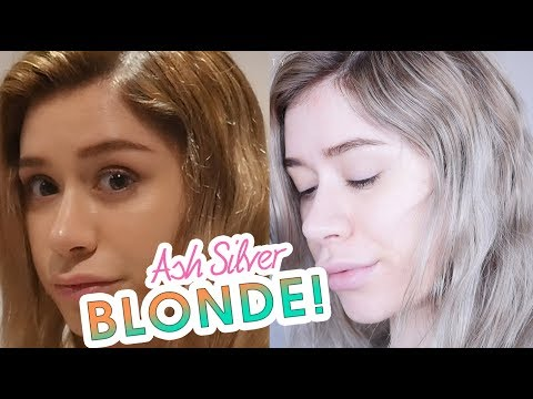 ASH BLONDE HAIR COLOR AT HOME | Silver Hair Ombre DIY