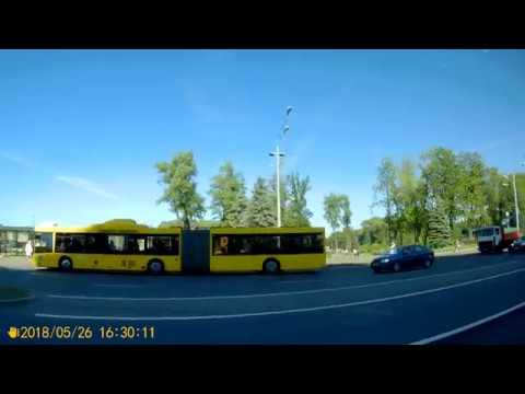 Минск.Поездка на автобусе №1 Веснянка - Вокзал