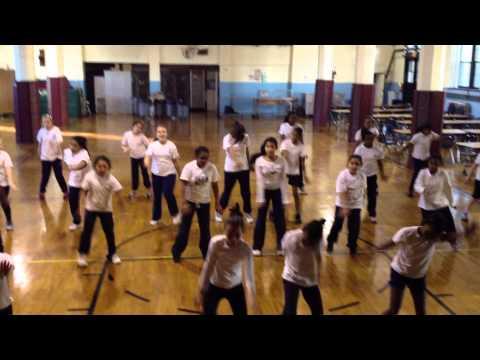 Dancing Eagles St Casimir School - practice