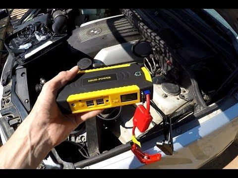 Запуск мотора V8 Бмв китайским пусковым устройством. Запустит или сдохнет?