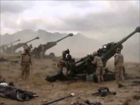 Canadian Artillery Firing In Afghanistan