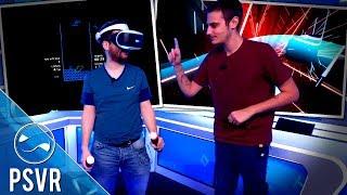 Hugo et Xari sur des jeux de rythme en VR - PSVR #1