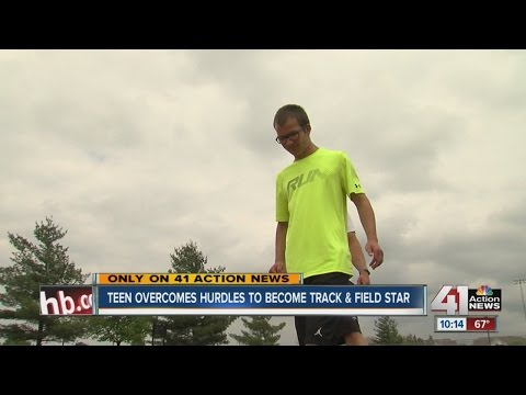 Teen overcomes hurdles to become track and field star