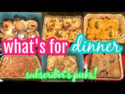 WHAT'S FOR DINNER? || SUBSCRIBERS PICKS || EASY DINNER IDEAS RECIPES! from YouTube · Duration:  19 minutes 56 seconds