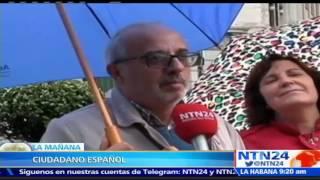 Reyes de España presiden desfile militar de la Fiesta Nacional con Gobierno en funciones