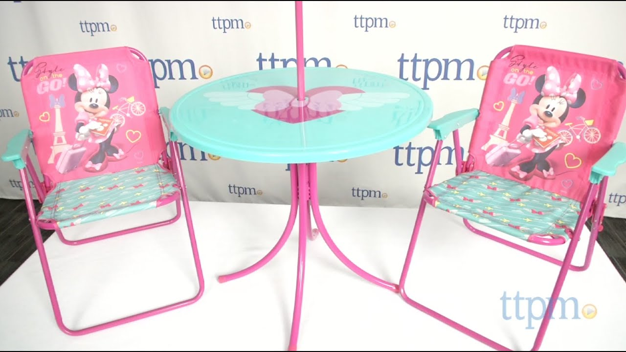 Folding patio chairs - Minnie Children S Patio Set From Kids Only Youtube
