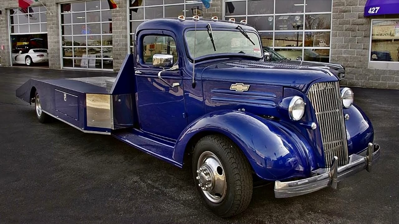 1937 Chevrolet Hot Rod Car Hauler - Big-block V8 Powered - YouTube
