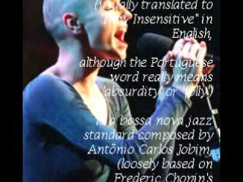 """Sinéad O'Connor sings (10/12) """"How Insensitive"""" (Jobim"""