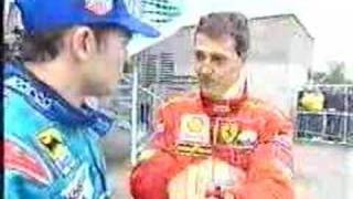 Michael Schumacher and Giancarlo Fisichella