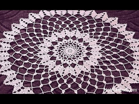 Crochet Doily Tutorial How To Crochet Doily 1 5 Round Part 1 Youtube