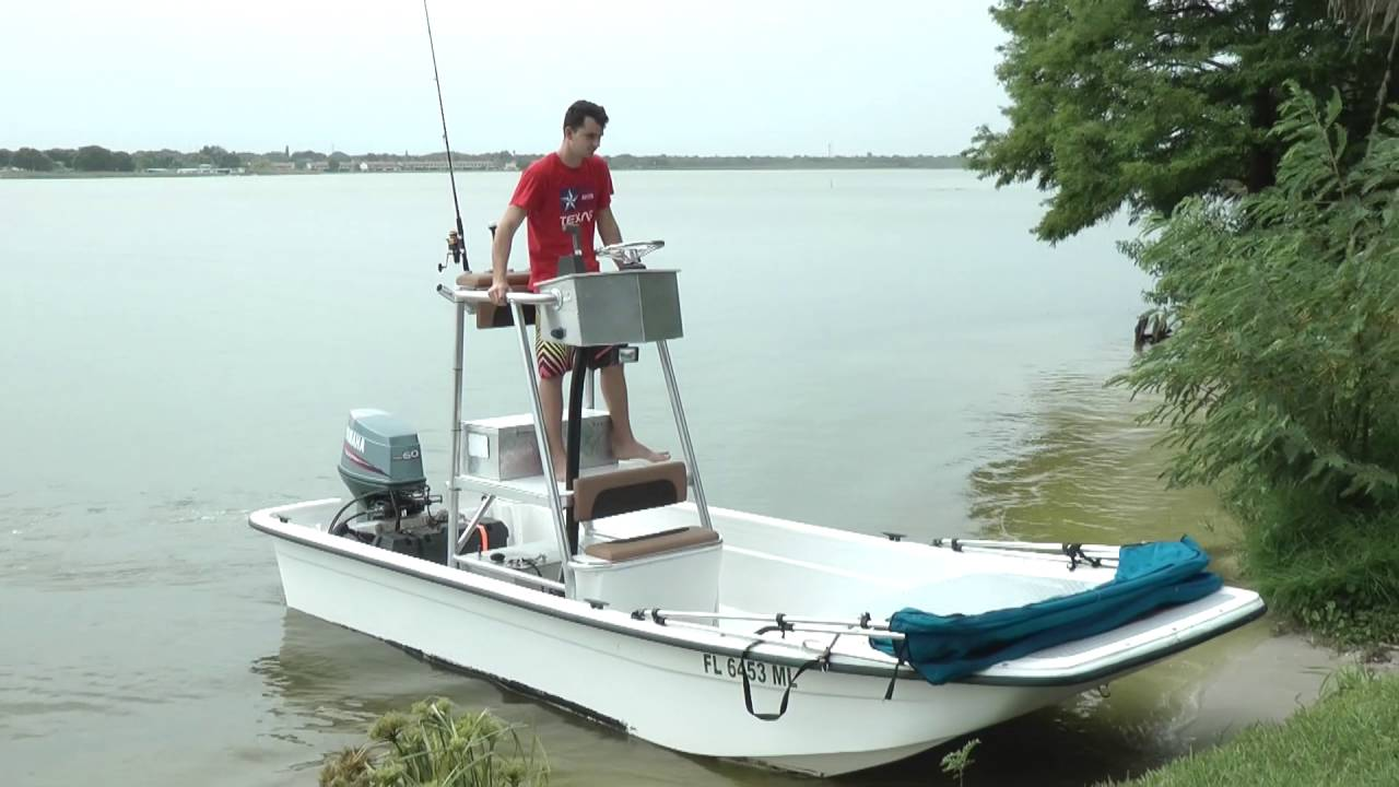 1999 Carolina Skiff With Custom Tower 60hp Yamaha Youtube