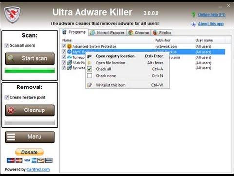 Hướng dẫn Diệt sạch Adware trên máy tính với Ultra Adware Killer
