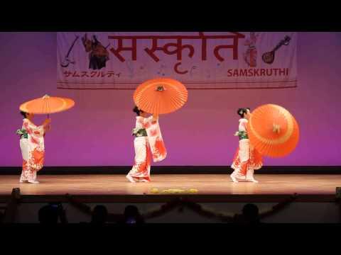 Minyo Folk dance:Tsugaru Aai Yabushi /Amori style- Samskruthi Musical Concert 2015 Tokyo, Japan