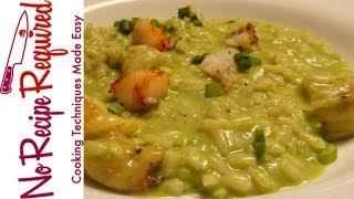 Shrimp Risotto with Peas - NoRecipeRequired.com