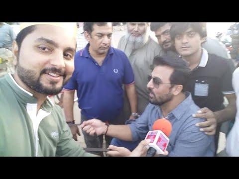 Jan Rambo ( Afzal Khan ) at Capri Cinema for Donkey King Promotions  Guest House Fame PTV