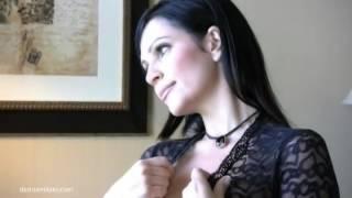 Denise Milani in black lingerie