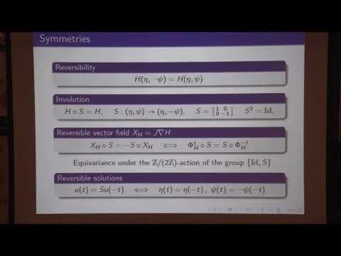 Time quasi-periodic gravity water waves in finite depth - Massimiliano Berti